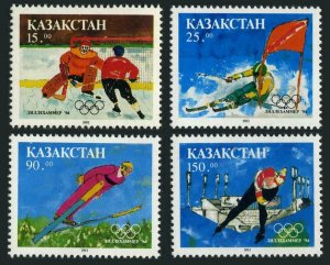 Kazakhstan 47-50,MNH.Mi 37-40. Olympics Lillehammer-1994.Ice hockey,Slalom,