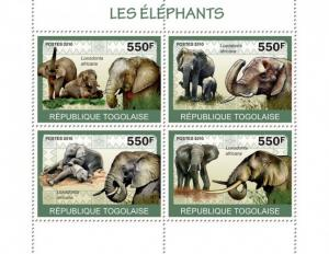 TOGO 2010 SHEET ELEPHANTS WILDLIFE tg10120a