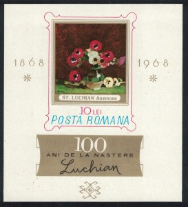 Romania Birth Centenary of Stefan Luchian painter MS SG#MS3550 SC#1993