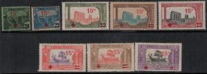 Tunisia 1918 SC B12-B19 Mint SCV $361.55 Set