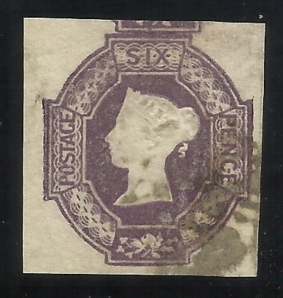 GB SC #7 6p Imperf Used VF (Large Margins) Fresh with light cancel