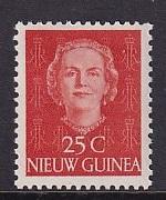 Netherlands New Guinea   #12  MH 1950  Juliana  25c
