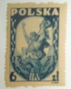 POLAND 1946 Stamp REVOLT OF 1863, Scott #389 MNH - Great Color! Free US Shipping