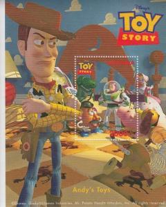 1997 Uganda Disney Toy Story Andy's Toys SS  (Scott 1483)