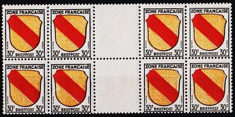 Germany(French Zone).1945 30f(Block of 8) S.G.F10 Unmounted Mint