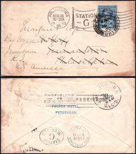 Goldpath: England cover 1900, to U.S.A. _CV15_P9