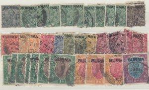 Burma KGV 1937 Set Plus To 5 Rupees Used J7076