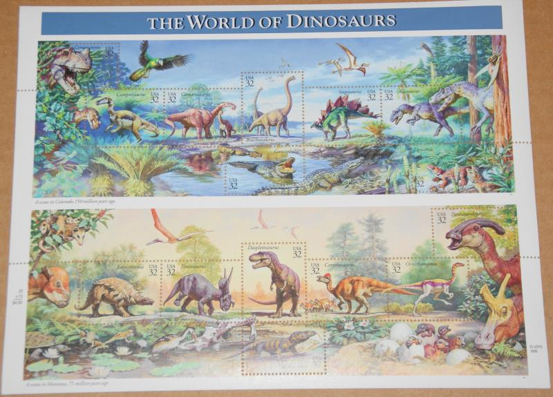 1997 sheet World of Dinosaurs Sc# 3136