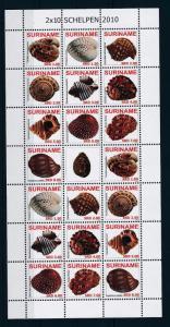 [SUV1685] Suriname Surinam 2010 Marine Life Seashells Miniature sheet MNH