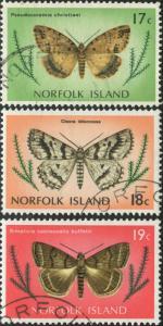 Norfolk Island 1977 SG187-189 Butterflies FU