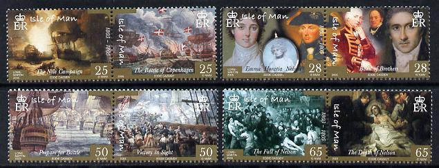 Isle of Man 2005 Bicentenary of Battle of Trafalgar perf ...