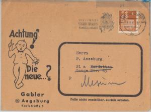 54402 - FOOTBALL - GERMANY -  POSTAL HISTORY:  COVER with nice POSTMARK - 1951
