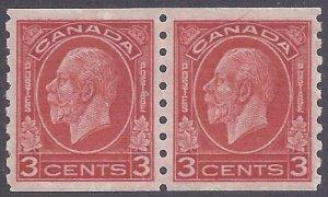 Canada Scott #207 Mint Pair LH VF