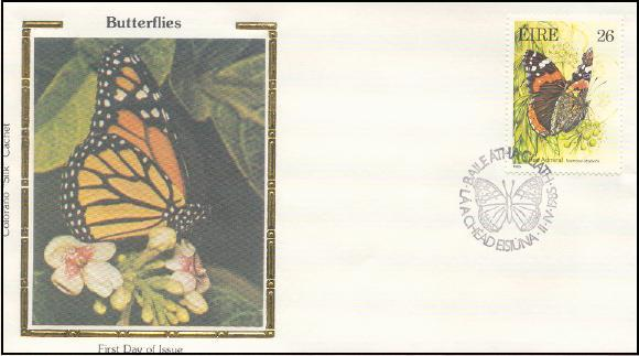 2079 Colorano Ireland Butterfly - red admiral 1985
