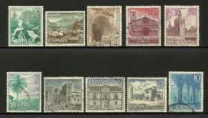 Spain 1966 Tourism Scott# 1353-1362 Complete MH/Used