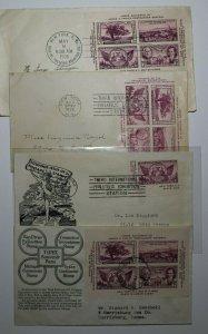 TIPEX NYC NY James Farlet Postmaster Sc# 778 ad Set 4 Philatelic Expo Covers
