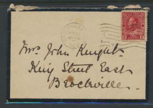 Canada death notice envelope - Brockville - JUN 1918  with SG 200 ( 201?)