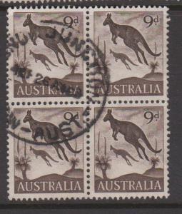 Australia Sc#322 Used Block of 4