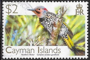 Cayman Islands 979 Used - Birds - Yellow-Shafted Flicker (Colaptes auratus)