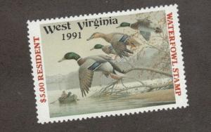 WV5 - West Virginia State Duck Stamp.