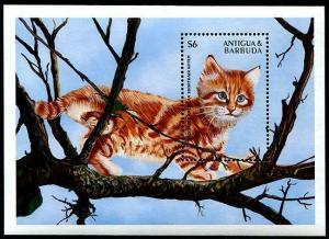 HERRICKSTAMP ANTIGUA Sc.# 2106 Cats - Kittens Souvenir Sheet