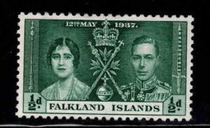 Falkland  Islandss Scott 81 Mint No Gum from Coronation set 1937