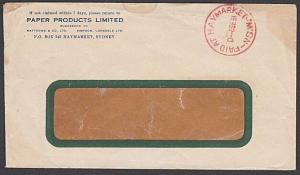 AUSTRALIA 1931 cover with fine cds in red PAID AT HAYMARKET / NSW..........57263