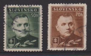 Slovakia Sc#43,43A Used