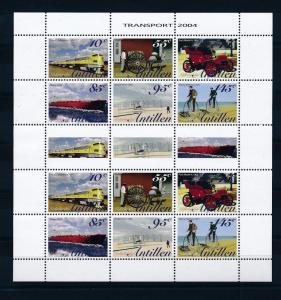 [NAV1507] Netherlands Antilles Antillen 2004 Transport Miniature Sheet MNH