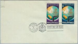 74513 - Philippines  - POSTAL HISTORY - FDC COVER  1961  COLOMBO PLAN maps