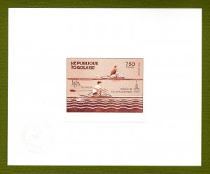 Togo proof of gold issue Mi 155. 1980 Olympics Rowing
