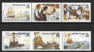 PITCAIRN ISLANDS SG341/346 1989 PITCAIRN ISLANDS SETTLEMENTS MNH