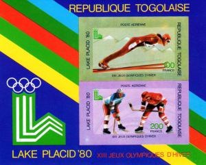 Togo 1980 Placid Lake Olympics SS Imperf.MNH Sc # C412