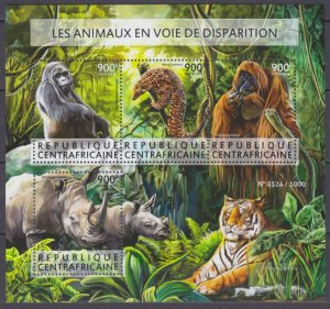 2015 Central African Republic 5650-5653KL Fauna 16,00 €