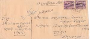 bangladesh overprints on pakistan early stamps cover ref 12834