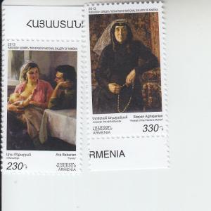 2013 Armenia National Gallery Bekaryan & Aghajanyan (2) (Scott NA) MNH
