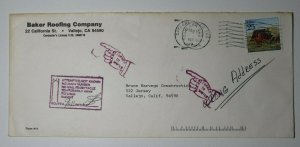 US Postal Marking Cover 1989 Mail Route Carrier Attempted Signed Returned Writer