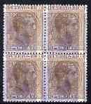 Puerto Rico 1884 3c brown in fine mint perf block of 4 do...