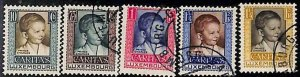 94917c  - LUXEMBOURG  - STAMPS  -  1930  Yvert # 226/30 -  Very Fine USED