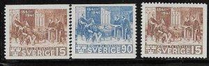 Sweden 316 - 318 mh 2018 SCV $23.05 complete set - 12842