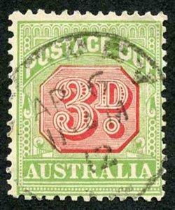 Australia SGD66 3d Post Due Perf 12 x 12.5 fine used