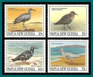Papua New Guinea 1990 Migratory Birds, MNH  #742-725,SG624-SG627
