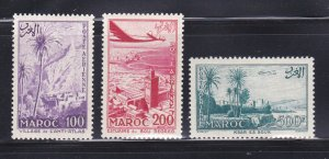 French Morocco C53-C55 Set MH Various