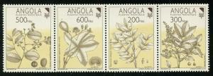 Angola 1992 Medicinal Plants strip/4 Sc# 828a NH