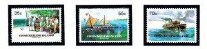 Cocos Is 111-13 MNH 1984 Barrel Mail Anniv      (KA)