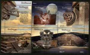 MEXICO 2727 TEOTIHUACAN ARCHEOLOGICAL SITE. Souvenir Sheet. MINT, NH. VF.
