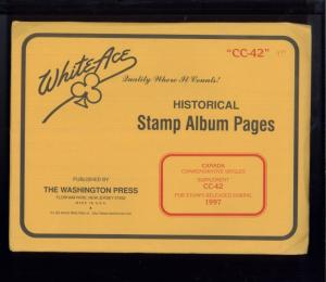 1997 WhiteAce Canada Historical Stamp Album Supplement Pages Item #CC-42