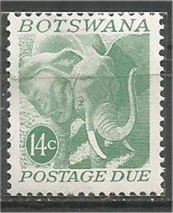 BOTSWANA, 1971 mint 14c Elephant Scott J7