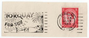 (I.B) Elizabeth II Postal : Slogan Postmark (Torquay For Sun)