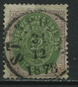 Danish West Indies 1877 12 cents CDS used